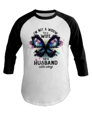 Im A Wife To A Husband With Wings Baseball Tee thumbnail