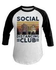 Social Distancing Baseball Tee thumbnail