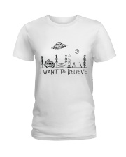 I Want To Believe Ladies T-Shirt thumbnail