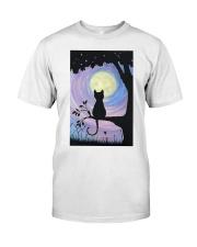 Cat And Moon Art Classic T-Shirt thumbnail