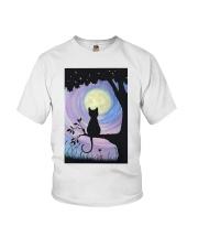 Cat And Moon Art Youth T-Shirt thumbnail