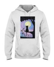 Cat And Moon Art Hooded Sweatshirt thumbnail