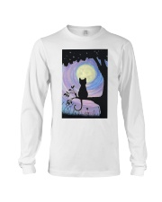 Cat And Moon Art Long Sleeve Tee thumbnail