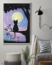 Cat And Moon Art 11x17 Poster lifestyle-poster-1