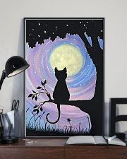 Cat And Moon Art 11x17 Poster lifestyle-poster-2