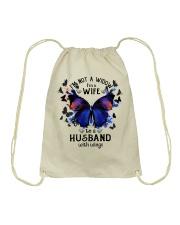 My Husband With Wings Drawstring Bag thumbnail