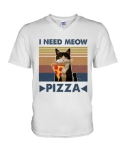 I Need Meow V-Neck T-Shirt tile