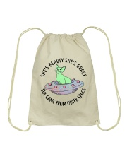 She Came Form Outer Space Drawstring Bag thumbnail