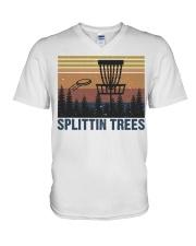 Splittin Trees V-Neck T-Shirt thumbnail