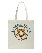 Satanic Pizza Tote Bag thumbnail