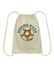 Satanic Pizza Drawstring Bag thumbnail
