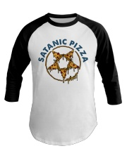 Satanic Pizza Baseball Tee tile