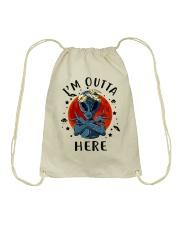 I Am Outta Here Drawstring Bag thumbnail