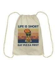 Life Is Short Drawstring Bag thumbnail