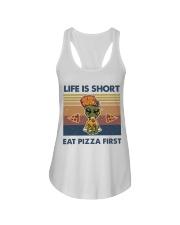 Life Is Short Ladies Flowy Tank thumbnail
