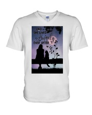 And She Lived Happily V-Neck T-Shirt thumbnail