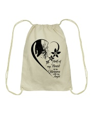 Half Of My Heart Is In Heaven Drawstring Bag thumbnail