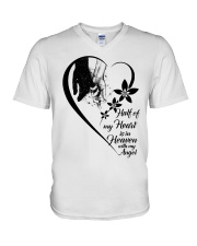 Half Of My Heart Is In Heaven V-Neck T-Shirt thumbnail