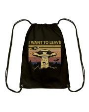 I Want To Leave Drawstring Bag thumbnail