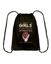 Some Girls Play Dnd Drawstring Bag thumbnail