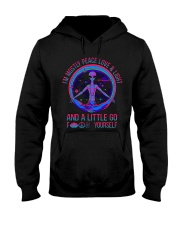 Im Mostly Peace Love Light Hooded Sweatshirt thumbnail