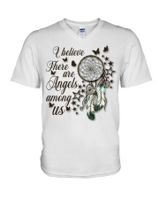 There Are Angels Among Us V-Neck T-Shirt thumbnail