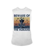 Beware Of The Humans Sleeveless Tee thumbnail