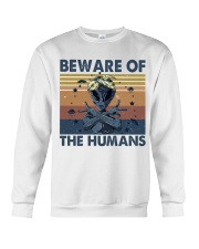 Beware Of The Humans Crewneck Sweatshirt thumbnail