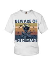 Beware Of The Humans Youth T-Shirt thumbnail