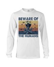 Beware Of The Humans Long Sleeve Tee thumbnail