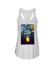 Campfire Starry Night Art Poster Ladies Flowy Tank thumbnail