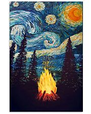 Campfire Starry Night Art Poster 11x17 Poster front
