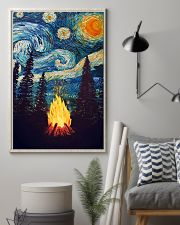 Campfire Starry Night Art Poster 11x17 Poster lifestyle-poster-1