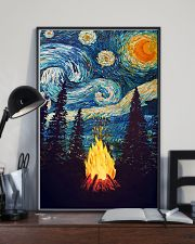 Campfire Starry Night Art Poster 11x17 Poster lifestyle-poster-2