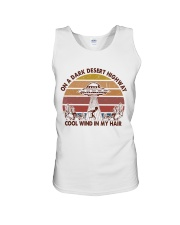 On A Dark Desert Higway Unisex Tank thumbnail
