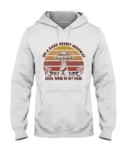 On A Dark Desert Higway Hooded Sweatshirt front