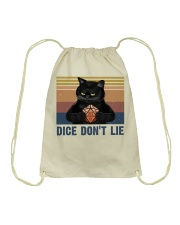 Dice Do Not Lie Drawstring Bag tile