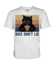 Dice Do Not Lie V-Neck T-Shirt tile