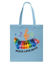Peace Love Music Tote Bag thumbnail