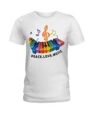Peace Love Music Ladies T-Shirt thumbnail