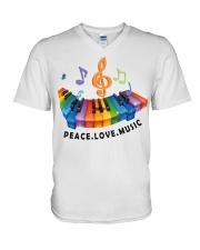Peace Love Music V-Neck T-Shirt thumbnail