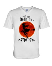 Witch If The Broom Fits V-Neck T-Shirt thumbnail