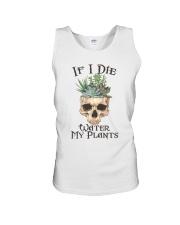 If I Die Water My Plants Unisex Tank thumbnail