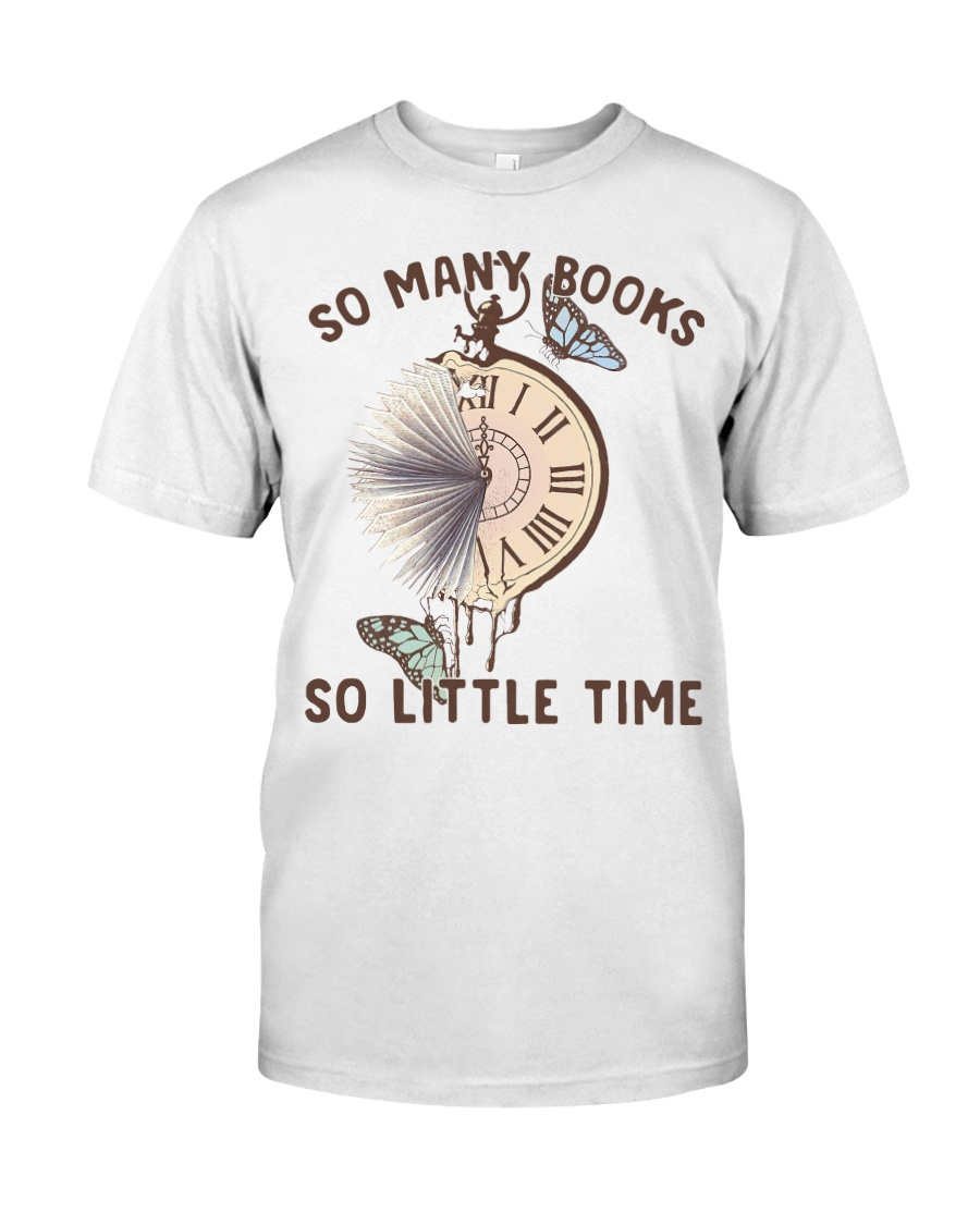 Many Books Little Time Classic T-Shirt