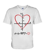 Math Love V-Neck T-Shirt thumbnail