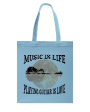Playing Guitar Is Love Tote Bag thumbnail