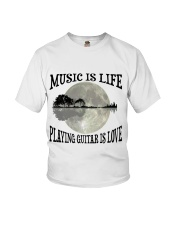 Playing Guitar Is Love Youth T-Shirt thumbnail