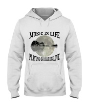 Playing Guitar Is Love Hooded Sweatshirt thumbnail