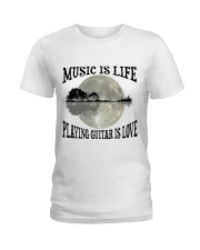 Playing Guitar Is Love Ladies T-Shirt tile