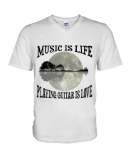 Playing Guitar Is Love V-Neck T-Shirt thumbnail